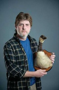 Stewart Huff with duck